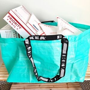 IKEA | Large Teal Tote Bags (set of 2)